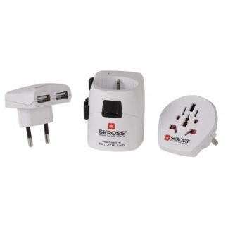 Adapter podróżny Skross Pro+ z ładowarką USB
