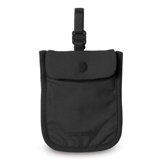 Damski sekretny portfel Pacsafe Coversafe S25 pod biustonosz czarny