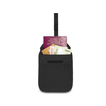 Dyskretny antykradzieżowy portfel na  pas Pacsafe Coversafe V60