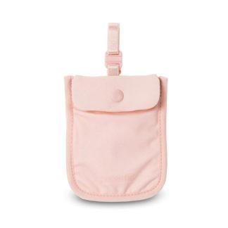 Damski sekretny portfel Pacsafe Coversafe S25 pod biustonosz różowy