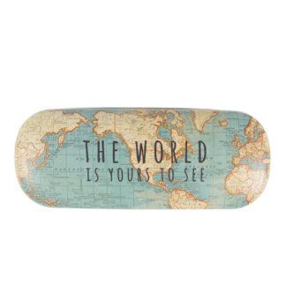 Etui na okulary Vintage Map