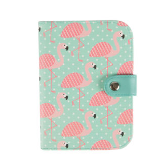 Etui na paszport flamingo