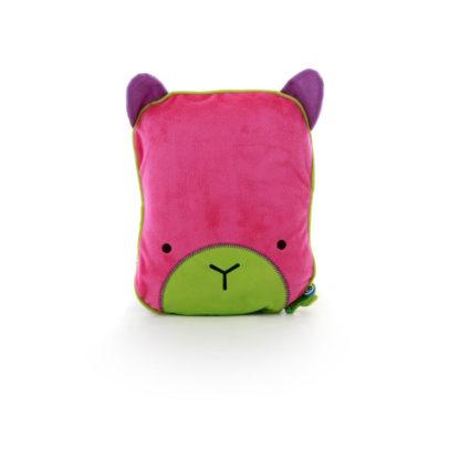 Kocyk i poduszka Trunki różowy
