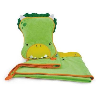 Kocyk i poduszka Trunki dinozaur