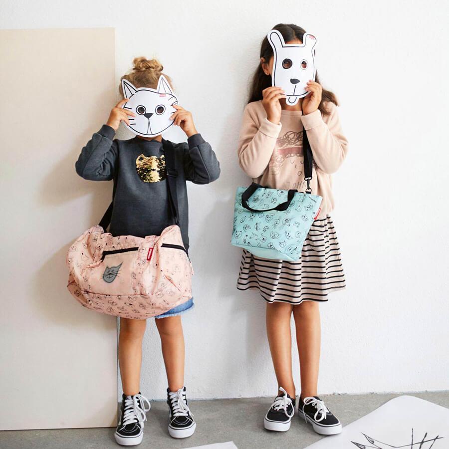 Torba podręczna dla dzieci Reisenthel Cats and Dogs różowa