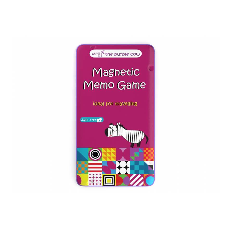 Podróżna gra magnetyczna Memo The Purple Cow