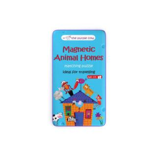 Podróżna gra magnetyczna Puzzle Zwierzęta i ich domy The Purple Cow