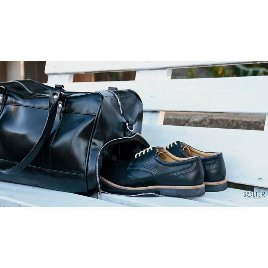Sportowa torba weekendowa Solier S18 GOVAN brązowa