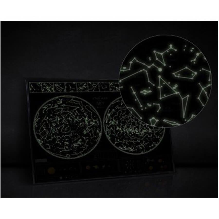 Personalizowana świecąca w ciemności mapa nieba