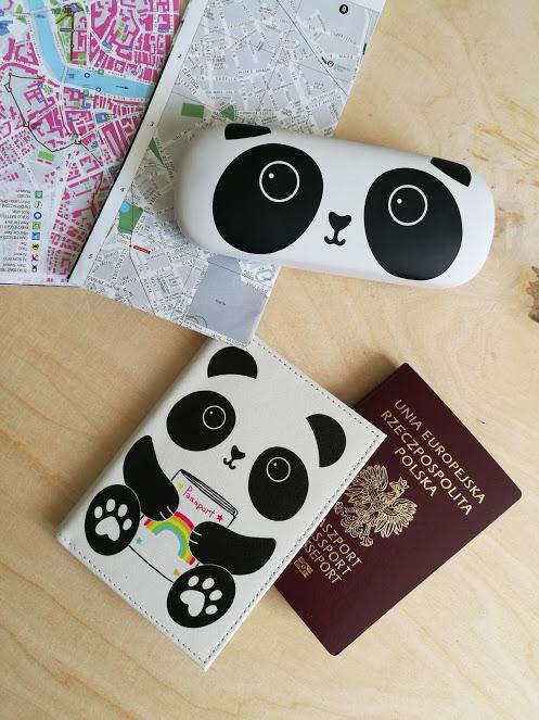 Etui na paszport i karty panda